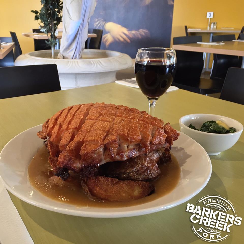 Woggies' pork belly challenge.
