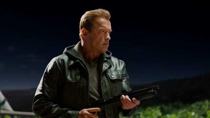 Arnold Schwarzenegger in a scene from Terminator Genisys.