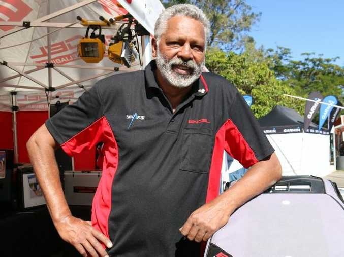 TV personality Ernie Dingo was impressed with the friendly atmosphere at the Boyne Tannum HookUp in 2015.