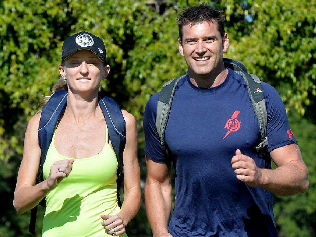 READY FOR A CHALLENGE: Carmellia Idzikowski and Dale Forman train for next month's event.