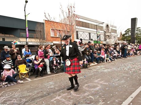 Ralph Cockle performing his duties as town crier.