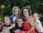 Sippy Downs mum-of-four has been through hell and back dealing with her kids range of allergies and intolerances. (L to R) Noah, 10, Bailey, 13, Aydan, 12, (mum) Heidi and daughter, Shiloh, 4, Finlay. Photo Patrick Woods / Sunshine Coast Daily