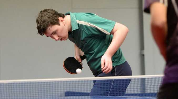 Rayden Smith competing in the Rockhampton Open Table Tennis Tournament on Saturday 6 Jun 2015. Photo: Chris Ison / The Morning Bulletin