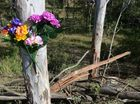 The scene of a fatal traffic crash on Rosewood-Laidley Road. Photo: Rob Williams / The Queensland Times