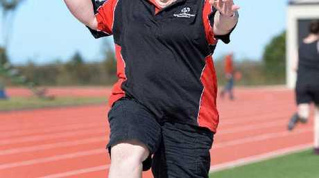 Fern Dunshea tries the long jump.