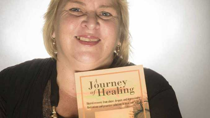 HEALING HAND: Author Catherine Bentley-Smith with her debut release A Journey of Healing.