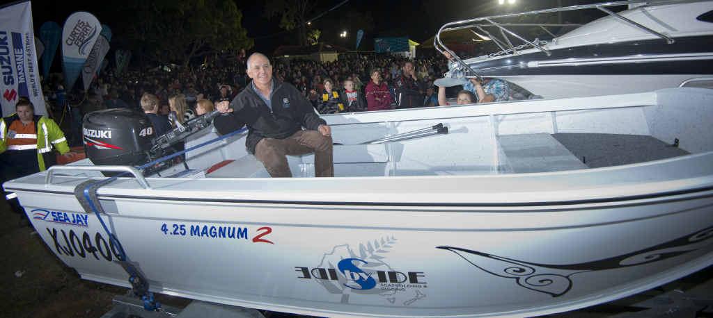 Lucky man, Charlie Sotiris won a 425 CJ Suzuki powered boat.