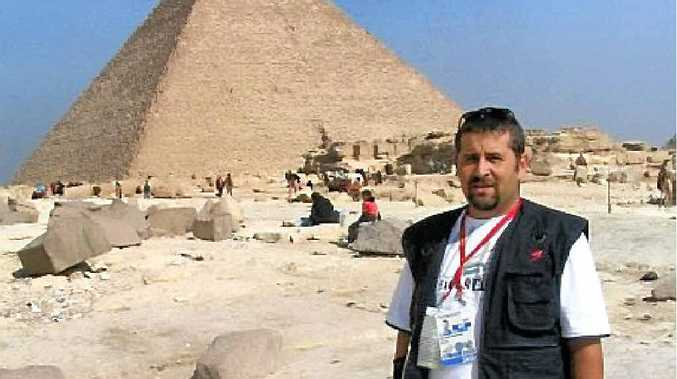 GLOBE TROTTER: Cameraman David van Rensburg filmed the 2006 African Cup of Nations in Egypt.