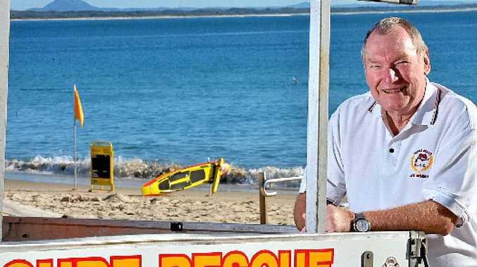 OAM recipient Ian Young at Noosa Main Beach.
