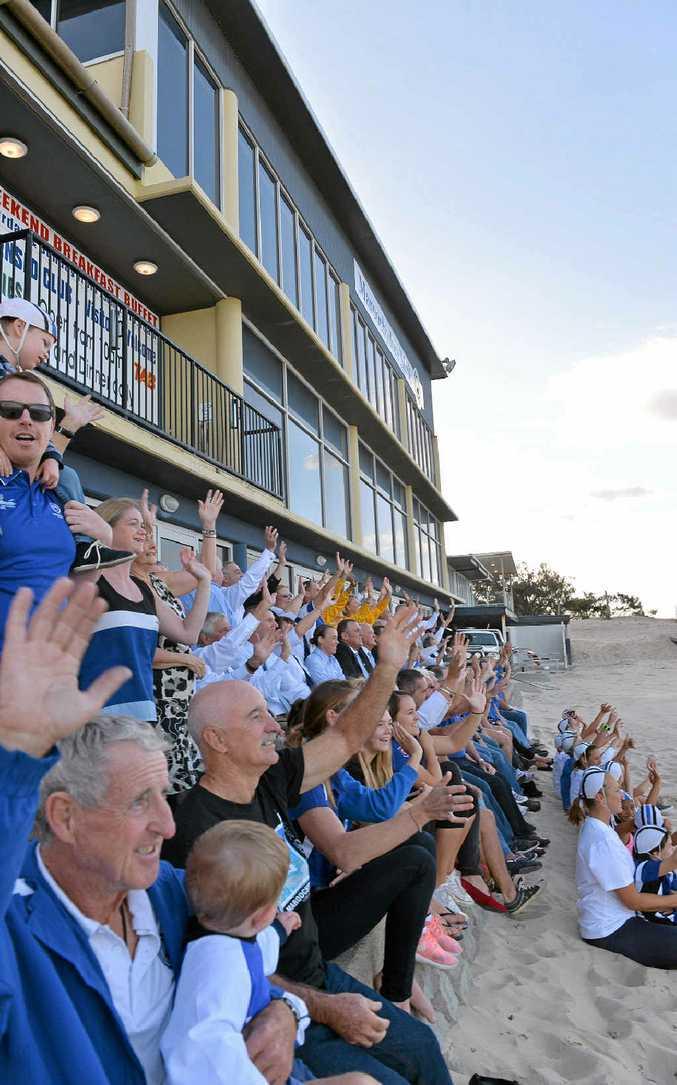 PROUD HISTORY: Maroochydore Surf Life Saving Club holds its 99th birthday celebrations.