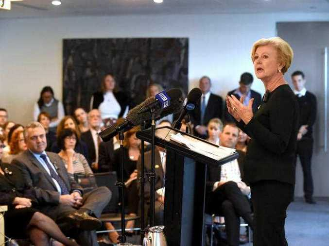 President of the Australian Human Rights Commission Gillian Triggs at the launch of the National Prevalence Survey of Age Discrimination in the Workplace report in Sydney.