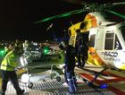 One man was airlifted by RACQ LifeLight helicopter to a Brisbane hospital.