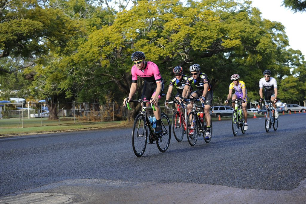 Grafton 'A' team Jye Reardon, Shaun Baxter, Andrew Ford, Tony Bridle and Paul O'Connor are competing in the Mauri Kautto Memorial Teams Time Trial at Grafton on Sunday. Photo Debrah Novak / The Daily Examiner