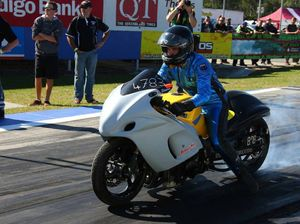 Modified bike drag racer third on Australian titles