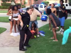 Video of US police officer rampaging through teen pool party