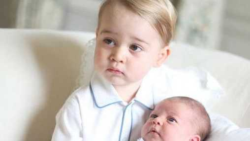 Breaking with royal tradition, the photographs of Prince George and Princess Charlotte were taken by their mother and feature the two royal siblings together