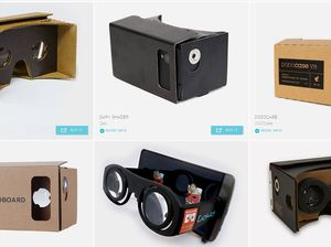 Google's build-your-own Cardboard glasses
