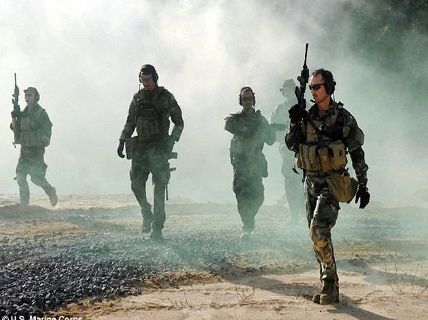 Navy SEAL operators during a training exercise in the US