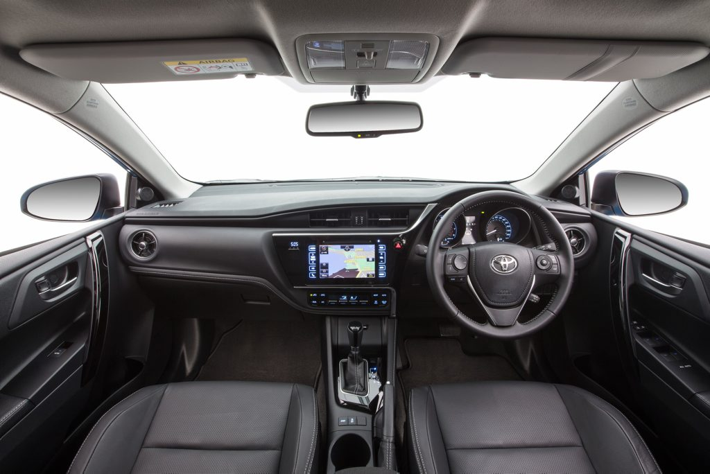 Interior revisions mean a reversing camera is now standard across the Corolla hatch range.