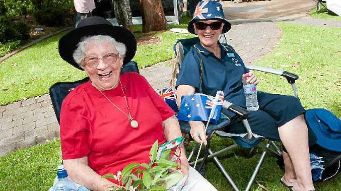 KIND HEART: Joan Howlett enjoying her 84th birthday in the Botanic Garden with her daughter Elise Crofts.