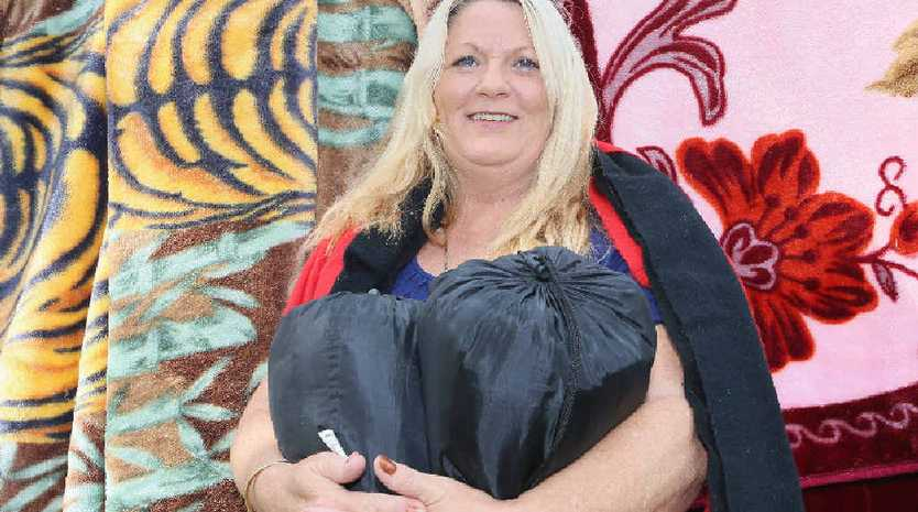 Hervey Bay Independent, Jannean Dean, has organised a sock and blanket drive at the Hervey Bay Community Centre.