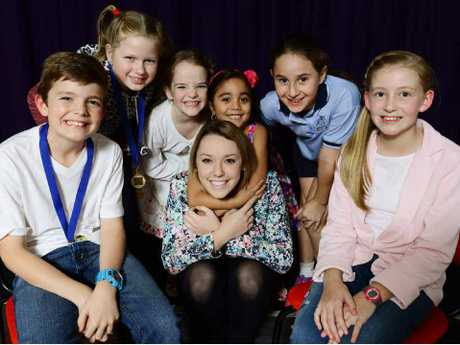 TOP TEACHER: Krystel Spark with students from left, Jenson White, Georgia Williams, Addison Ridley, Kirrarlyn Strudwick, Carter Gregory and Elaina Mollenhauer.