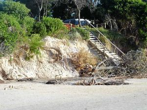 Erosion gouges tonnes of sand from Clarkes Beach