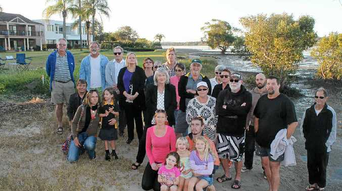 WALL OF OBJECTION: Ballina residents are opposing a proposed rock wall to be built in front of waterfront properties along North Creek.