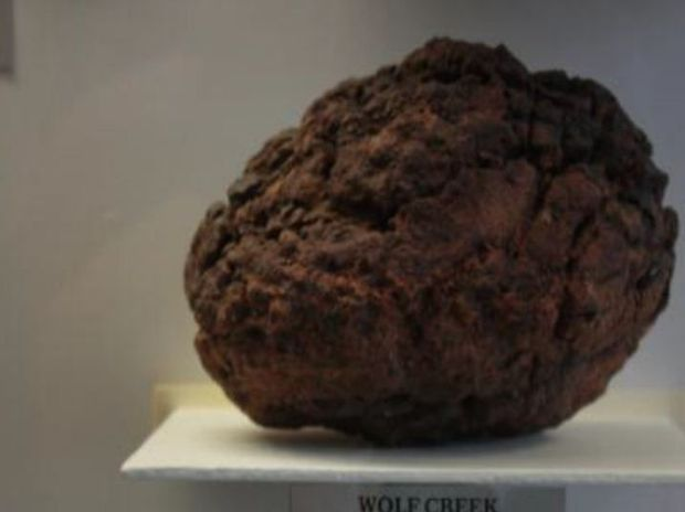 The stolen meteorite, weighing about 11.25kg and about the size of a soccer ball