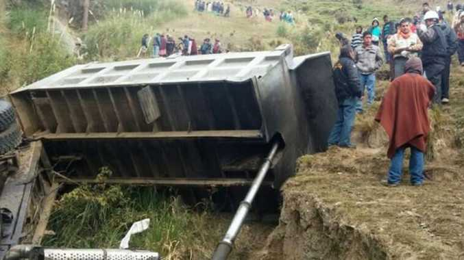 The truck - that was carrying children, parents and teachers to a school - toppled down a 100 metre high cliff, killing 17 and injuring a further 54