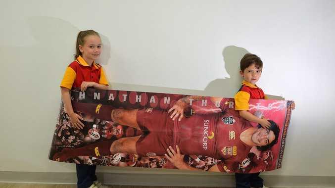 State of Origin poster promotion. Photo: Warren Lynam / Sunshine Coast Daily