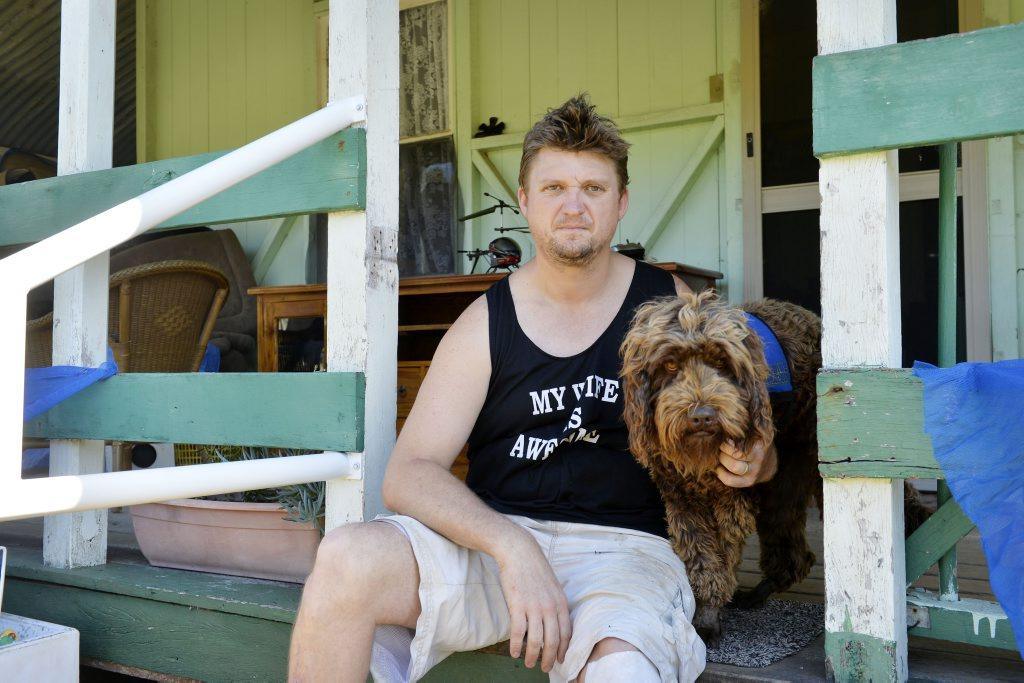 THROWN OUT: Ex-serviceman Ricky Lawson has been told to leave Riverlink four times because the shopping centre has not been satisfied with accreditation for his assistance dog.