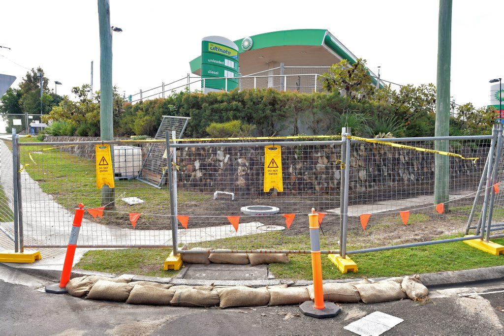 Coolum residents are concerned about a diesel smell coming from the BP service station on Coolum-Yandina Road. The service station also fronts on to Daytona and Key West Avenues. Photo: Brett Wortman / Sunshine Coast Daily