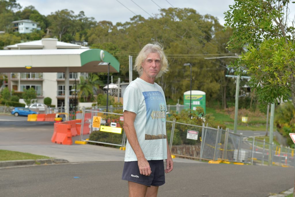 Coolum resident Byron Robertson says a diesel smell from the BP across the road from his house has intensified in past weeks.