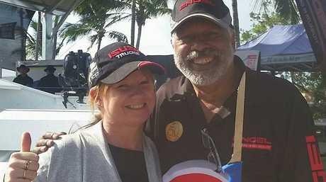 Amanda Leigh: Got a selfie with Ernie Dingo at the Boyne Tannum HookUp. Great weekend!