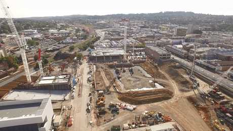 A bird's eye view of the Grand Central redevelopment courtesy of a drone.