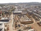 An image of the Grand Central and Gardentown redevelopment project taken from a drone above the construction site in 2015.