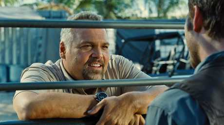 Vincent D'Onofrio in a scene from the movie Jurassic World.