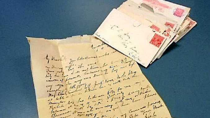 CENTURY-OLD: These love letters were returned to the rightful owner after a police search uncovered them.