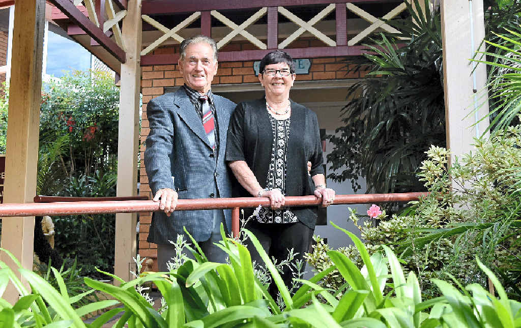 LOOKING BACK: Peter Bortolin and Carmel Rose were at Mary's Grange residential aged care centre in Lismore when it was officially opened by Gough Whitlam 40 years ago.