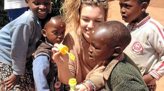LIFE-CHANGING: Brittany Pratt in Kenya.