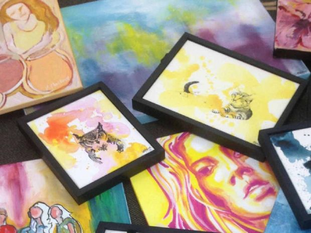"""ORIGINAL ART: June is """"On Sale"""" month at the Mill Gallery."""
