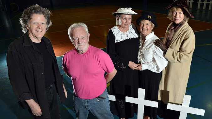 EMOTIONAL JOURNEY: (From left) Paul Coppens and David Crewe with cast members Jools Dumbrell, Sylvia Harker and Susan Ivison, have worked hard to prepare for the Anzac Dawn production.