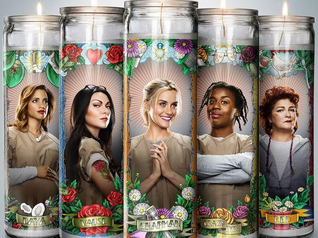 Dascha Polanco, Laura Prepon, Taylor Schilling, Uzo Aduba and Kate Mulgrew star in Orange is the New Black.