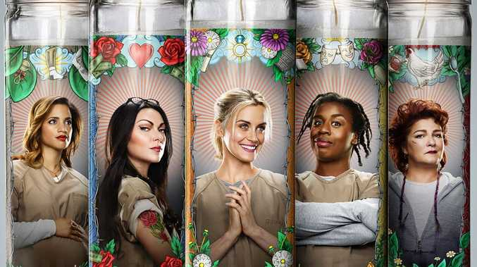 Dascha Polanco, Laura Prepon, Taylor Schilling, Uzo Aduba and Kate Mulgrew star in Orange is the New Black.