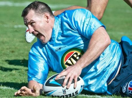 Paul Gallen at Blues State of Origin Training.  Photo: Rob Wright / The Coffs Coast Advocate