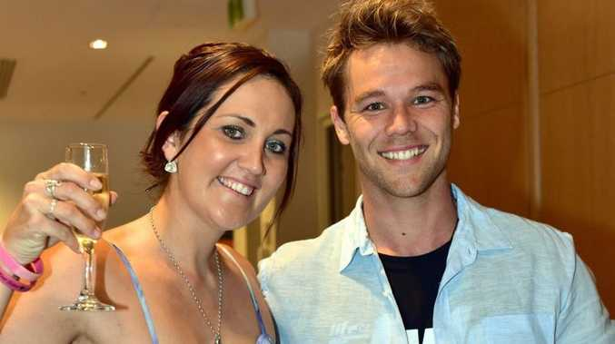 Mix FM- Give Me 5 for Kids Fund Raiser./ Sheraton Noosa.(L-R) Krystal Moore with Lincoln Lewis. Photo Geoff Potter / Noosa News