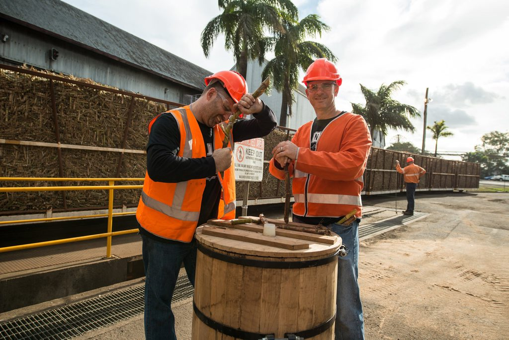 Matthew Drane and Rick Prosser at the Waterview distillery. Photo: Rene Eloise