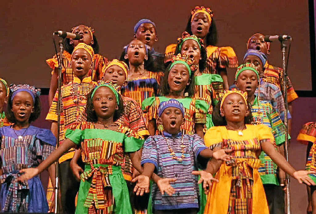 The African Children's Choir (pictured far left) will be performing this weekend in Mullumbimby.