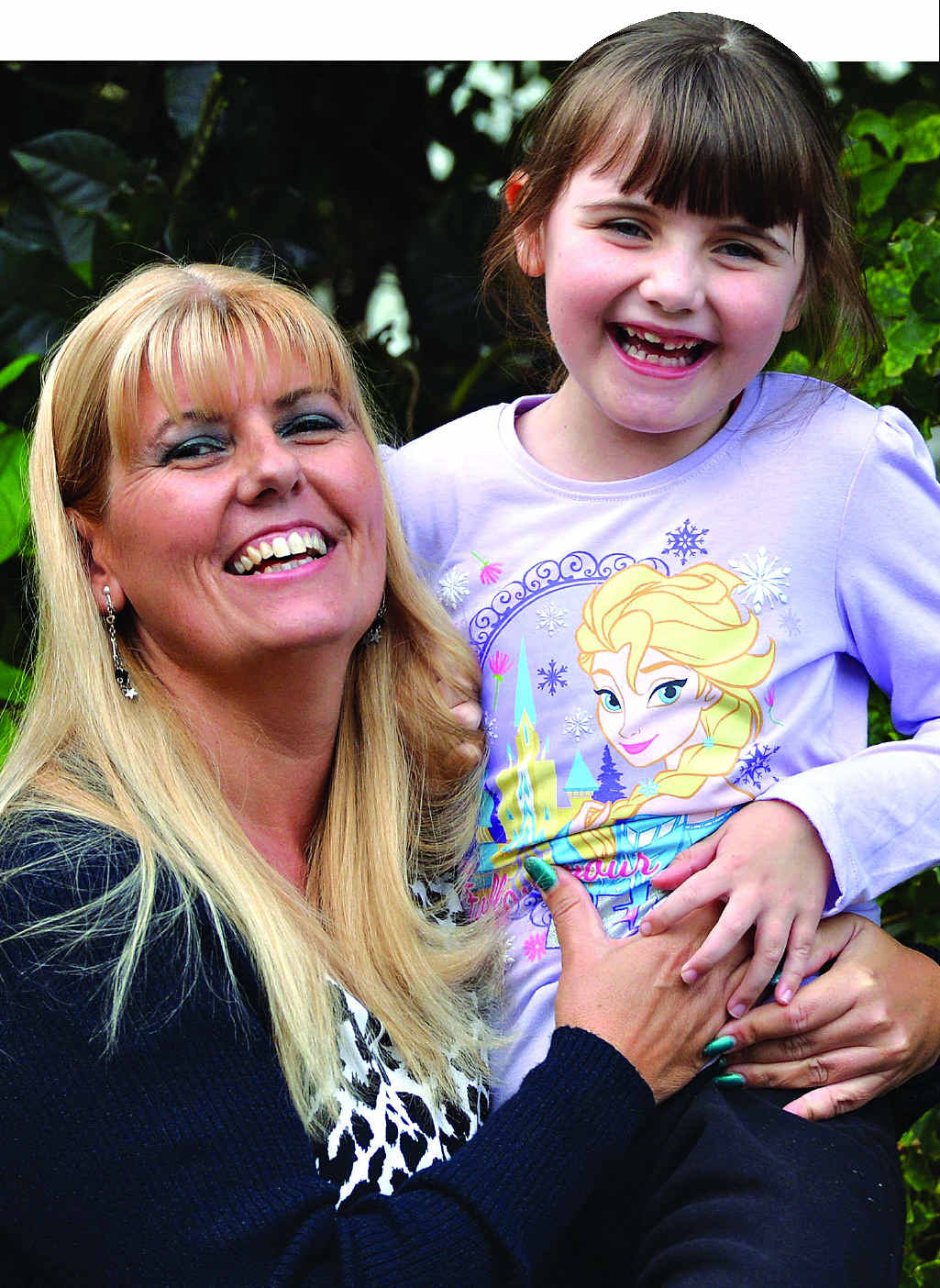 FUNDS NEEDED: Lyn Gale with her daughter Madison, 7, who suffers from autism.